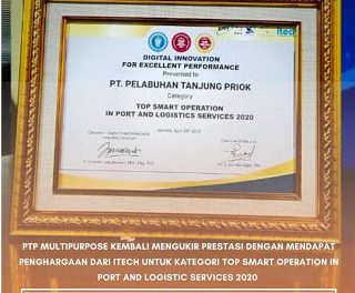 PTP Multipurpose Raih Penghargaan Dari Itech Kategori Top Smart Operation Port And Logistic Service 2020